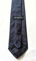 """BROOKS BROTHERS all Silk 59"""" Tie in Navy Blue w/Red Polka Dots Pattern"""