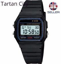F91W Clásico LCD Digital Deportes RETRO Alarma Cronómetro Reloj Pulsera Con