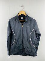 Nike Women's Vintage Full Zip Branded Athletic Active Jacket Size L 12-14 Black