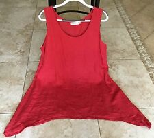 BODIL LAGENLOOK LINEN ASMY TANK TOP RED SIZE XL
