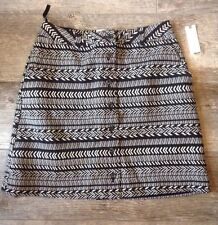Anthropologie Maeve Black & White Button Up Skirt Size 10 NWT