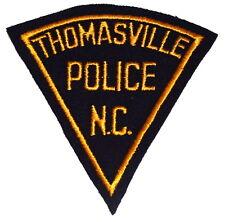 THOMASVILLE NORTH CAROLINA NC Police Patch PIE SHAPE CUT EDGE FELT VINTAGE ~