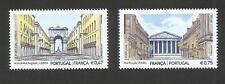 Portugal 2016 - Joint Issue France - Streets / Monuments set MNH
