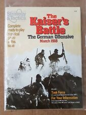 STRATEGY & TACTICS MAGAZINE NUMBER 83 - THE KAISERS BATTLE MARCH 1918 UNPUNCHED