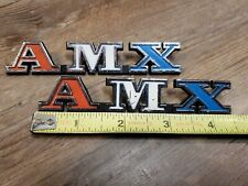 1971-1974 AMX JAVELIN INTERIOR LH & RH DOOR PANEL EMBLEMS OEM