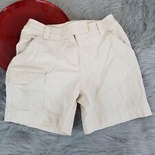 J Jill Womens Cargo Shorts Size 4 Off White High Waist Stretch Outdoor Hiking 21