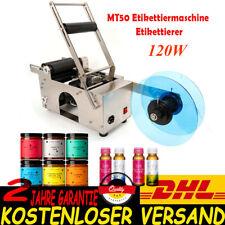 MT-50 Etikettiermaschine Halbautomatisch Runde Flasche Labler Etikettierer Neu