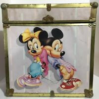 RARE Vintage Mickey & Minnie Mouse Storage Box (80s/90s, Walt Disney Company)