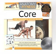 Anatomy of Fitness Core Workout Kit Exercise Ball Included Dvd Book New Sealed