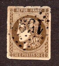 FRANCE 1870  n° 47d brun foncé, coté Y&T 350 €
