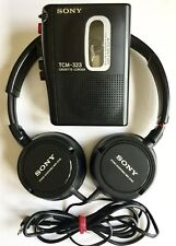 SONY TCM-323 HANDHELD CASSETTE PLAYER & VOICE RECORDER & MDR ZX100 HEADPHONES
