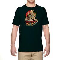Men's T-shirt Funny Halloween Pumpkin head Zombie Graphic Tee Short Sleeve