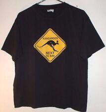 Kangaroos Next 15 KM Australia Street Sign T Shirt Size 16 M (Youth) Animal