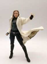 XS White Faux Leather Trench Coat for SHF Black Widow (No Figure)