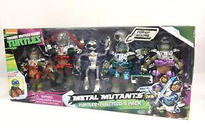 2016 Playmates TMNT Metal Mutants Turtles & Fugitoid 5 Pack 5 inch Action Figure
