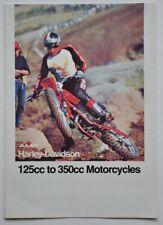 Catalogue gamme AMF Harley Davidson 125cc to 350cc Motorcycles 1975-76