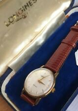 Gents Automatic 9K Gold Longines Watch And Box.