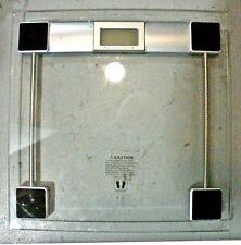 Digital Glass Bathroom Scale, max 330 lbs (0.2-lb precision)
