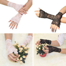 Women's Sexy Lace Wrist UV Protection Sun Bridal Wedding Gloves Driving gloves