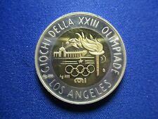 LOS ANGELES 1984 XXIII OLYMPICS ITALIAN SILVER MEDAL TOKEN 33 mm