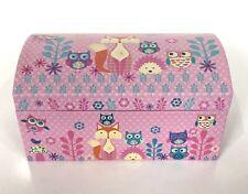 Tri-Coastal Design Girls Jessica Flick Jewelry Box Pink Fox Woodland Organizer