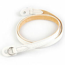 NEW CIESTA DSLR SLR Mirrorless Camera Leather Neck Shoulder Strap RF12 [White]