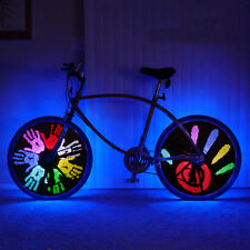 LUCE LED PROGRAMMABILE IMPERMEABILE DA BICI BICICLETTA MOUNTAIN BIKE 128 LED