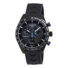 TISSOT PRS 516 Men's Chronograph Watch Black Blue Carbon T1004173720100 RRP £560