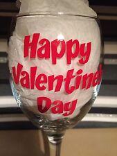 x10 Happy Valentine's Day Vinyl  Decal Sticker DIY Glitter Wine Glass