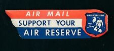 85617) Luftpost Zettel Air Mail Label USA AIR FORCE RESERVE...