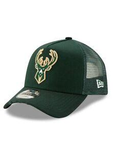Milwaukee Bucks New Era Mesh 9FORTY NBA League Adjustable Strapback Hat Cap 940
