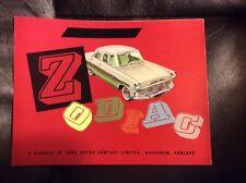 1960 Ford Zodiac Sales Brochure