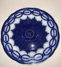 Vintage England Martha Washington CHAIN OF STATES Flow Blue PLATE Advertising #2
