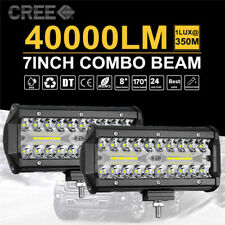 7inch CREE LED Work Light Bar Spot Flood OffRoad Fog Driving 4WD 4x4 Reverse