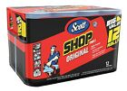 Scott Shop Towels 12Pk Multi Purpose Easily Absorbs Liquids & Grease 660 sheets
