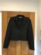 Women's CORA KEMPERMAN Charcoal Grey Pinstripe Wool Blend Blazer Jacket Size XL