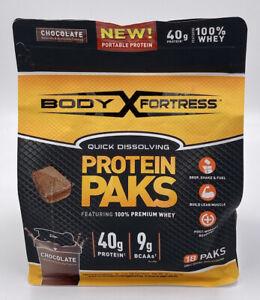 Chocolate Flavor Body Fortress 100% Premium Whey Protein Powder -18 10 EXP 04/21
