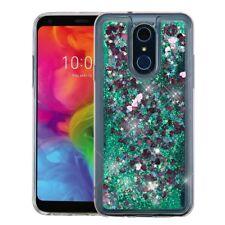 for LG Q7, Q7+ Plus Quicksand Liquid Glitter Skin Case Cover+PryTool
