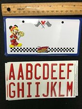 1 Mickey and the Roadster Racers Mini Metal Personalized Name License Plate Tag