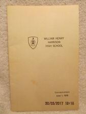 1970 Program Harrison High School Commencement Evansville IN With Grads' Names