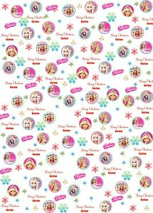Personalised Barbie Christmas Wrapping Paper