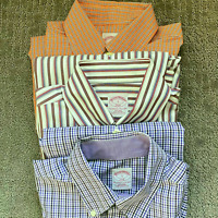 BROOKS BROTHERS Men's 346 Long Sleeve Button Down Shirt Small-Bundle of 3 Shirts