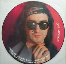 """THE MISSION - Interview Picture Disc 12"""" (1987)"""