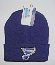 St . Louis Blues Cuffed Vintage Beanie Toque Knit Hat NWT Authentic Navy Blue