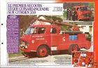 Fire engine Premier-Secours Guinard-Incendie Citroën FICHE Pompier FIREFIGHTER