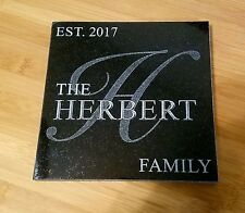 Trivet Hot Plate Personalized Trivets Custom Engraved Family Name Free Shipping