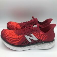 New Balance Mens M1080r10 Red White Running Shoes Size 13 2E Wide Fresh Foam