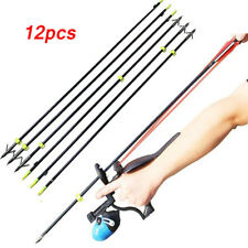 Bow Fishing Fish Arrows Arrowheads Replaceable Torpedo Tip and Black Arrow Point