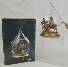 Fontanini by Roman #56243 Flight Into Egypt Blown Glass Ornament Vintage 1992