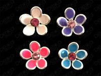 925 Sterling Silver Flower Stud Earrings Daisy Crystal Mini Girls Women Studs